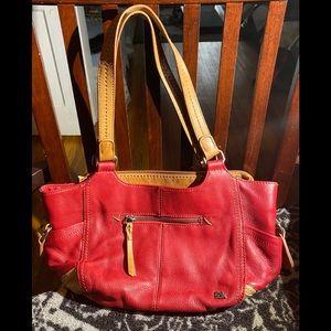 The Sak Red & Tan Leather Shoulder Bag